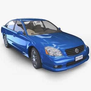 realistic sedan - relatively 3d model