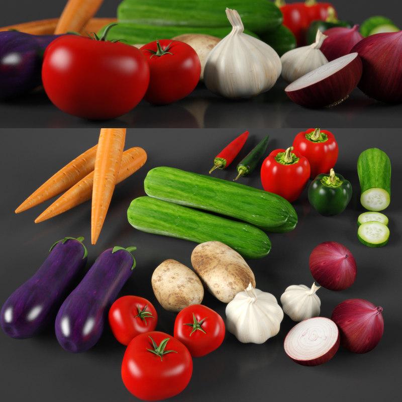 veg vegetable 3d model