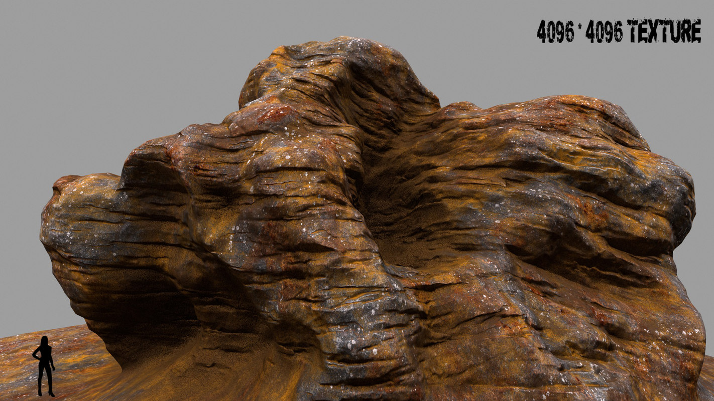mountain rock obj
