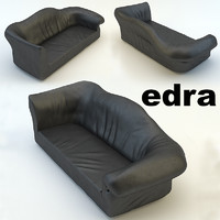 3d sofa edra sfatto model