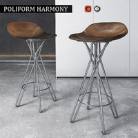 3d model of chair poliform harmony