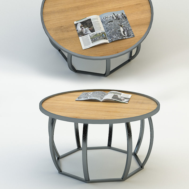 3d model coffee little table