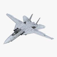 F-14 Tomcat US Combat Aircraft Rigged