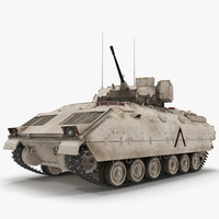 US Infantry Fighting Vehicle Bradley M2 Rigged