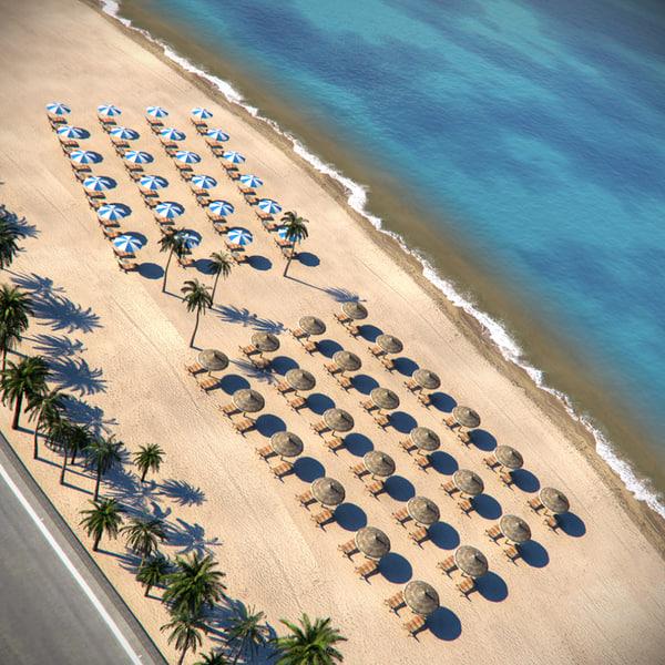 max beach parasols sunbeds
