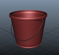 rigged bucket 3d model