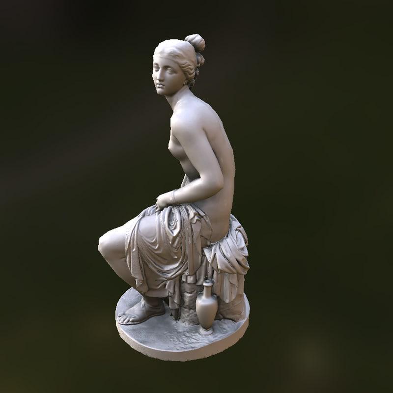 3d fbx ancient greek roman statue