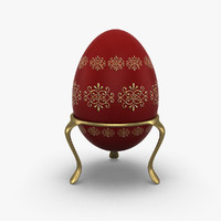 realistic easter egg 3d model