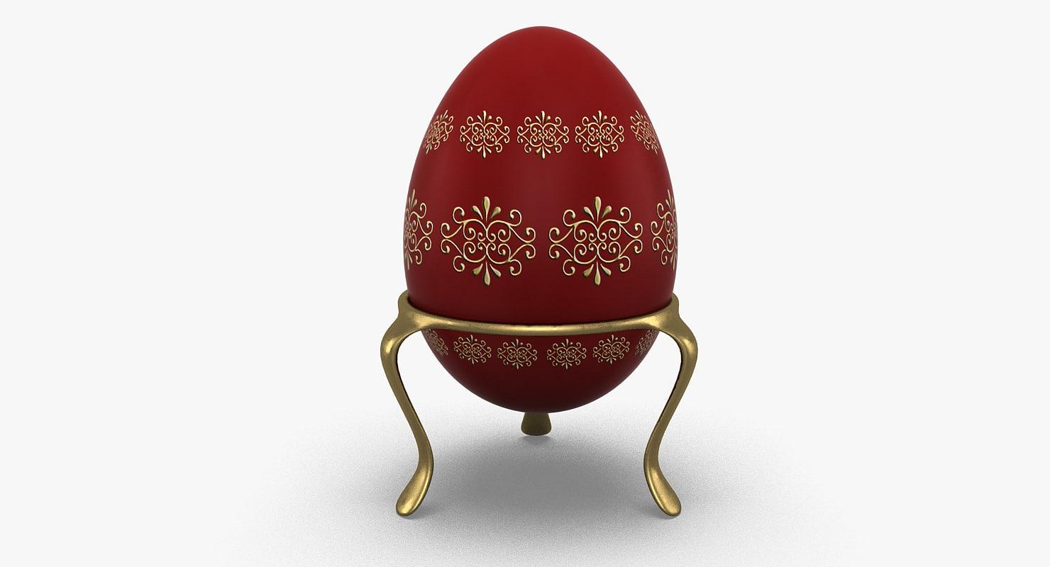 realistic easter egg 3d model