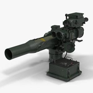 bgm-71 tow missile 3d c4d