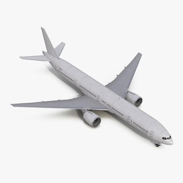3d model boeing 777-300 generic