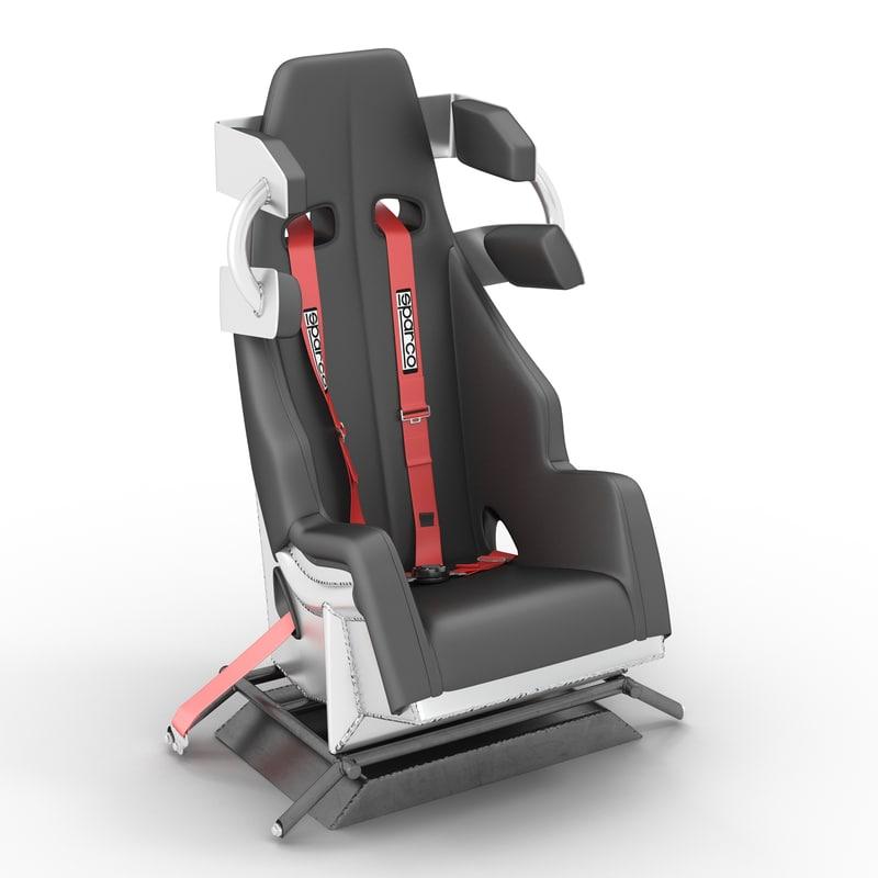 racing car seat 3d model
