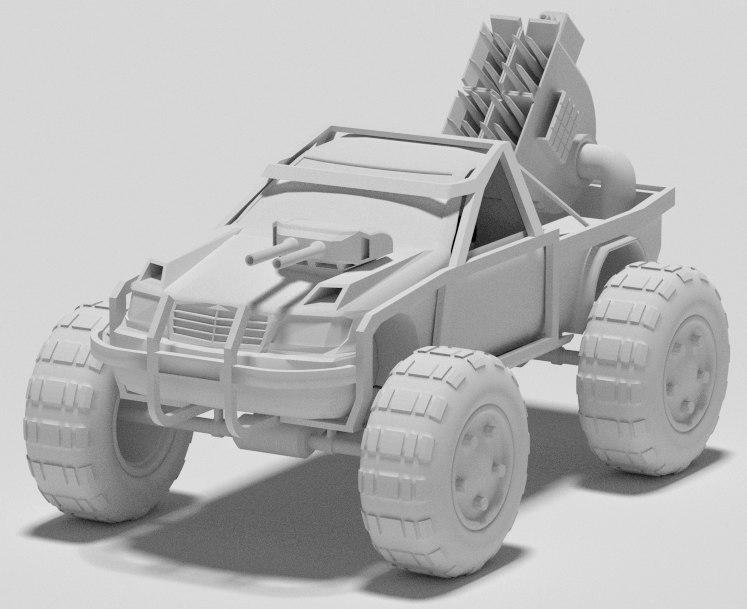 3d war car