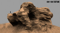 3d mountain rock