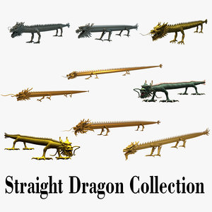 3d chinese straight dragon