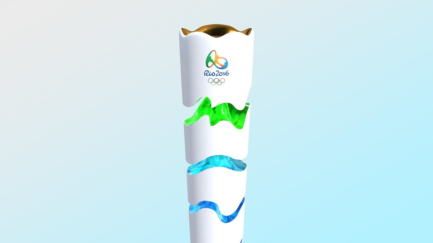 olympic torch rio 2016 3d c4d