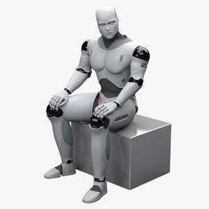 male robot rigged 3d obj