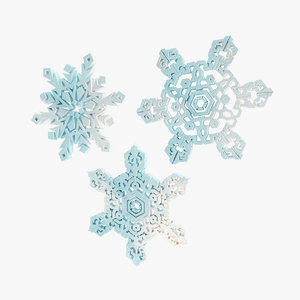 flake snow snowflake 3d 3ds