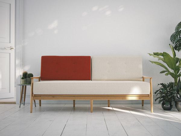 sofa vrayforc4d 3d model