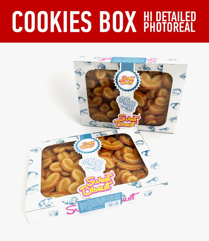 cookies 3d c4d