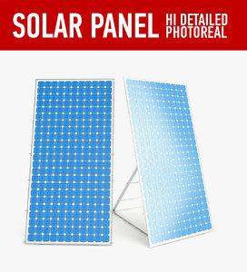 solar panel 3d 3ds