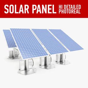 3d solar panel model