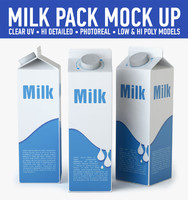 3d milk carton model