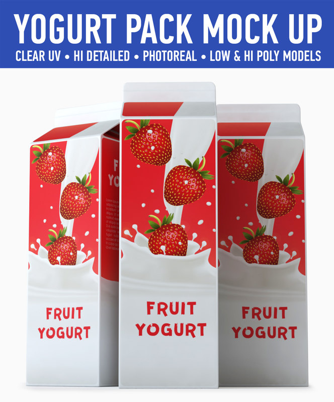yogurt carton 3d 3ds