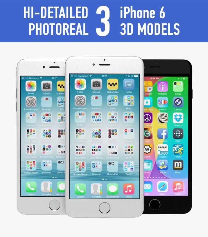 apple iphone 6 obj