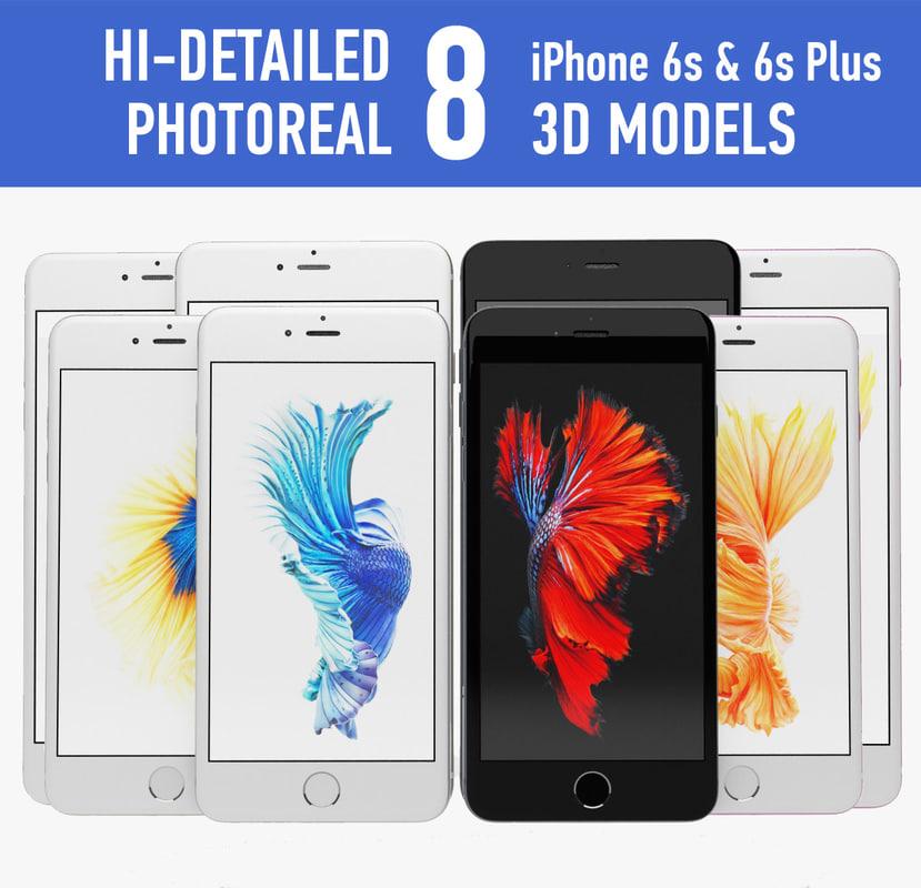apple iphone 6s 3d 3ds