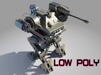 3d robot weapon