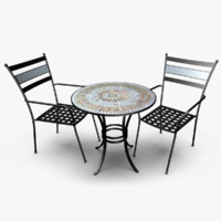 3d model patio set