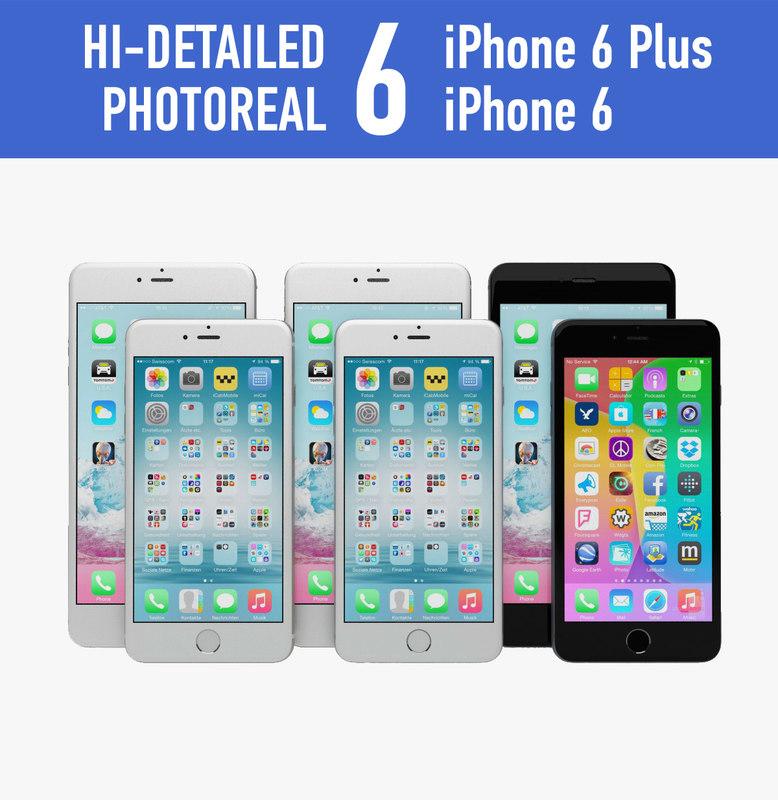 apple iphone 6 colors c4d