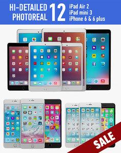 3d model apple iphone ipad