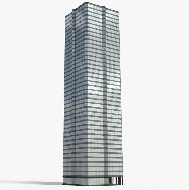 3d model tall building