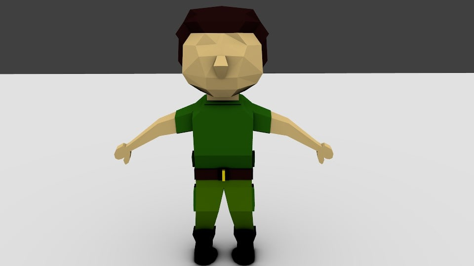 rigged character 3ds