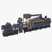 gasoline industrial engine 3d model