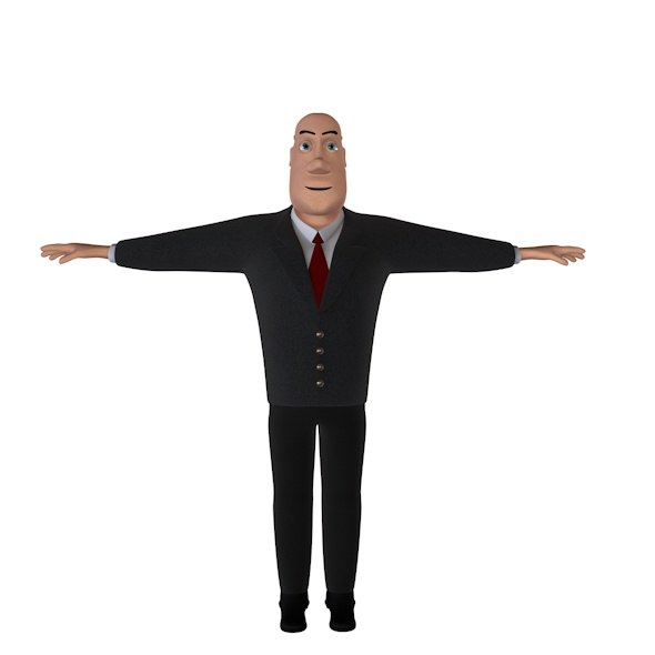 dxf character business man