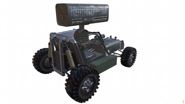 3d desert combat rocket buggy model