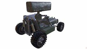 3d desert combat rocket buggy model