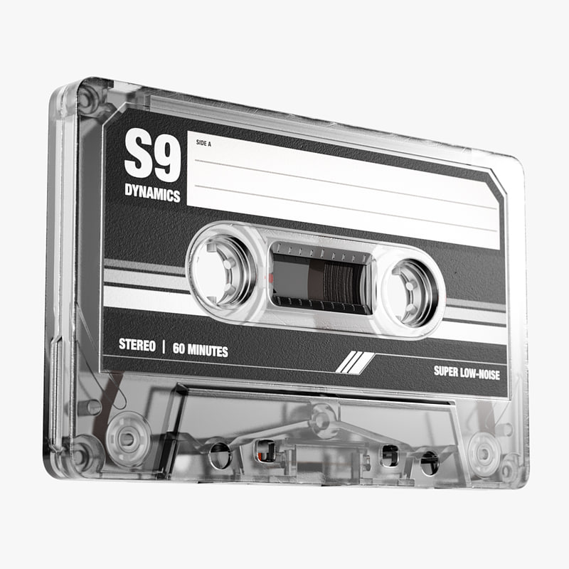 music cassette tape obj