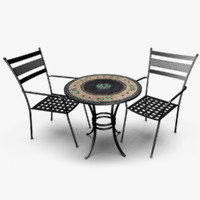patio set 3d lwo