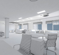 3d model of office interior