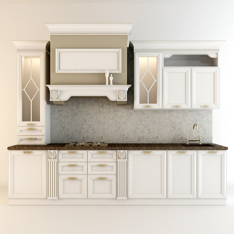 3d max furniture kitchen orchid