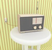 radio 3d fbx