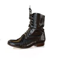 Classic Black Boot Game Ready Shoe Asset