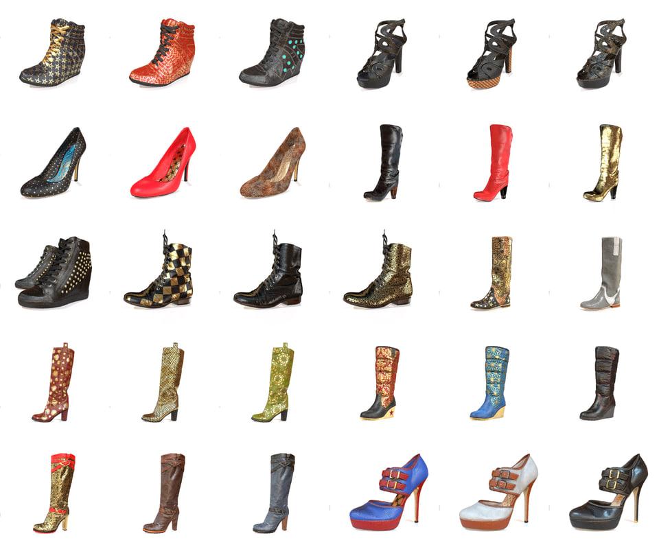 3d woman shoe