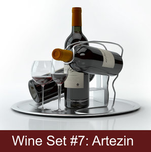 alcohol set 7: artezin 3d max