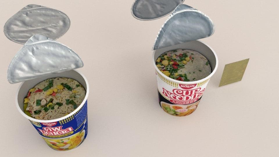 3d nissin instant cup noodles model