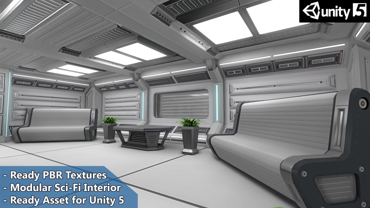 3d interior furniture sci-fi pack